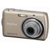 Pentax Optio E70 Gold Digital Camera  10MP  3x Opt  SD SDHC Card Slot