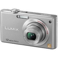 Panasonic Lumix DMC-FX48S Silver Digital Camera  12 1MP  5x Opt  MMC SD Memory Card SDHC Card Slot