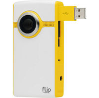 Flip Video Ultra 4GB Flash Drive Camcorder - Yellow  2x Dig  2  LCD