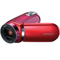 Samsung F34 Camcorder  16GB Installed  2 7in LCD  Red