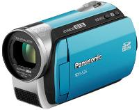 Panasonic SDR-S26A Blue SD Card Camcorder  70x Opt  100x Dig  2 7  LCD