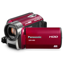Panasonic SDR-H80R 60GB Hard Drive HD Camcorder  70x Opt  3500x Dig  2 7  LCD