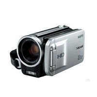 Sanyo VPC-TH1 HD Compact Flash Memory Camcorder w  30x Optical Zoom  Silver