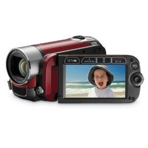 Canon FS200 Flash Memory Camcorder - Red