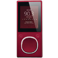 Microsoft Zune 8GB MP4 MP3 Player Red and Microsoft Zune H9A-00001 Car Pack v2 and Leather Case Bund