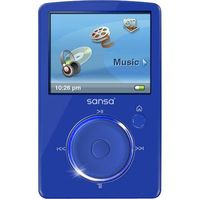SanDisk Fuze 4GB MP3 Player - Blue  Internal Flash Drive  FM Tuner  24 Hours