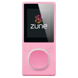 Microsoft Zune 4GB Media Player - Pink  Internal Flash Memory  FM Tuner  12 Hours