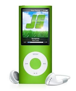 Apple iPod nano Green MP3 Player  2  LCD  Flash Drive  4 Hours  24 Hours