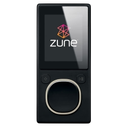 Microsoft Zune 8GB MP4 MP3 Player Black and Microsoft Zune H9A-00001 Car Pack v2 and Leather Case Bu
