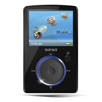 SanDisk Sansa Fuze 2GB Black MP3 Player  1 9  LCD  Flash Drive  FM Tuner  5 Hours Video  24 Hours Audio
