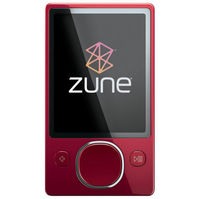 Microsoft Zune 120GB MP4 MP3 Player Red and Microsoft Zune H9A-00001 Car Pack v2 and Leather Case Bu