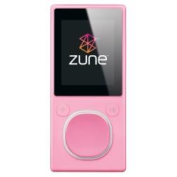 Microsoft Zune 8GB MP4 MP3 Player Pink and Microsoft Zune H9A-00001 Car Pack v2 and Leather Case Bun