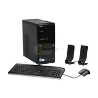 Acer Aspire M3800-U3802A Mini-Tower Desktop  2 5GHz Intel Pentium Dual-Core E5200  4GB DDR3  640GB HDD  DVD  RW  Windows Vista Home Premium 64-bit
