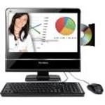 ViewSonic VPC100 All-in-One Desktop  1 6GHz Intel Atom N270  1GB DDR2  160GB  DVD  RW  Windows XP  18 5  LCD