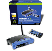 Linksys WPC54G-RM Wireless-G Notebook Adapter  802 11b g  128 Bit WEP  WPA