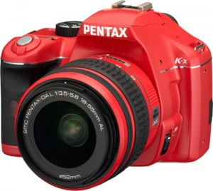 Pentax K-x Red SLR Digital Camera Kit w  18-55mm Lens  12 4MP  SDHC Card Slot