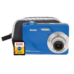 Kodak 10 2 Megapixel 3x Zoom Cd180 Blue Digital Camera Bundle 8680548