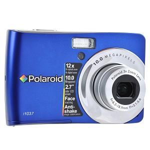 Polaroid i1037 Digital Camera - 10 Megapixel 2 7 TFT LCD 3x Optical 4x Digital Zoom 16MB Internal St