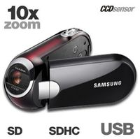 Samsung SMX-C10 SDHC Card Camcorder  10x Opt  1200x Dig  2 7  LCD