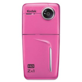 Kodak Zx1 Pocket Video Camera Pink 1ea