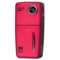 Kodak Zx1 Pocket Video Camera Red 1ea