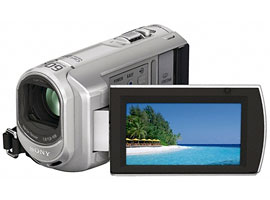 Sony DCR-SX40E  PAL  4GB Memory Stick Handycam Camcorder with 60x Optical Zoom  2000x Digital Zoom and 2 7  Touch Panel LCD Screen - Silver