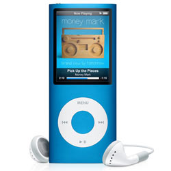 Apple iPod nano 16GB Blue MP3 Player  2 2  LCD  Flash Drive  5 Hours Video  24 Hours Audio
