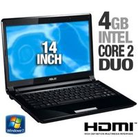 Asus UL80VT-A1 Notebook  1 3GHz Intel Core 2 Duo Mobile SU7300  4GB DDR3  320GB HDD  DVD  RW DL  Windows 7 Home Premium  14  LCD