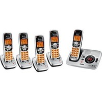 Uniden DECT1580-5 Silver Cordless Phone  DECT 6 0  Answering Machine  Caller ID