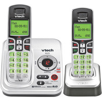 VTech CS6229-2 White Cordless Phone  DECT  Answering Machine  Caller ID