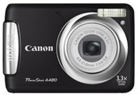 Canon PowerShot A480 Digital Camera  10MP  3 3x Zoom  Black