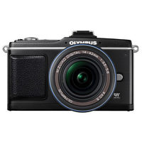 Olympus E-P2 Black SLR Digital Camera Kit w  17mm Lens  12 3MP  SDHC Card Slot