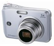 GE A1250 Silver Digital Camera