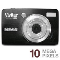 Sakar ViviCam X024 Black Digital Camera  10MP  3x Opt  SDHC Card Slot