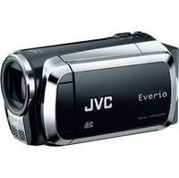 JVC Onyx Everio MS130 16GB Dual Flash Camcorder  Black