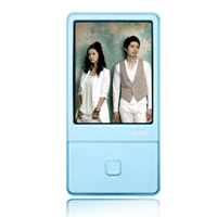 iRiver iriver E100 4 GB Multimedia Player  Sky Blue