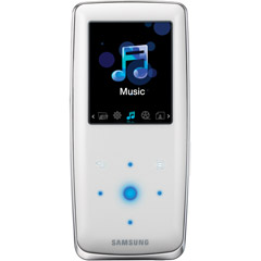 Samsung YP-S3JAW 4GB MP3 Player - White  Internal Flash Drive  FM Tuner  25 Hours