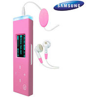 Samsung YP-U3 2GB MP3 Player - Pink  Internal Flash Drive  FM Tuner  14 Hours