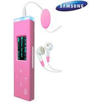 Samsung YP-U3 2GB MP3 Player - Pink  Internal Flash Drive  FM Tuner  14 Hours