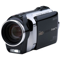 Sanyo VPC-SH1BK High Definition Camcorder and 10 MP Camera  Black