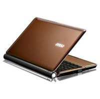 MSI U160-007US 10-Inch Brown Netbook - 15 Hour Battery Life