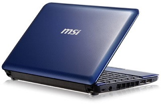 MSI U135-411US 10-Inch Netbook - Blue