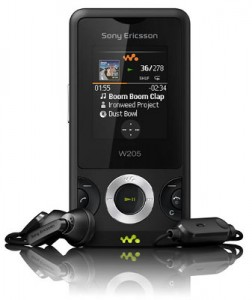 Sony Ericsson Walkman W205 Cell Phone