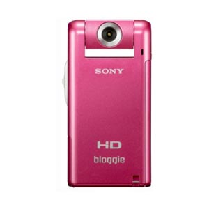 Sony MHS-PM5K P bloggieTM Mobile 5MP HD Snap 360 Video Camera  Pink  with 4x Digital Zoom   4GB Acce    Camcorder