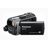 Panasonic SDR-T50 Camcorder - Black  4GB in-built flash  SD Card slot  x78 Enhanced Zoom  Flash Media