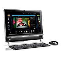 Hewlett Packard Black 20  TouchSmart 300-1223 All-In-One Desktop PC with AMD Athlon II X2 240e Processor   Window     885631259979