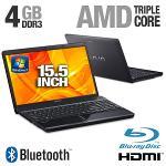 Sony VAIO VPCEE29FX BI Laptop Computer - AMD Phenom II X3 P820 1 80GHz  4GB DDR3  500GB HDD  Blu-Ray    PC Notebook