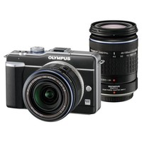 Olympus PEN E-PL1 Digital Camera with 14-42mm and 40-150mm lenses