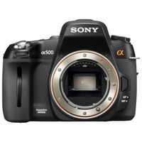 Sony DSLR-A500 Digital Camera with 18-55mm and 75-300mm lenses