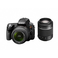 Sony DSLR-A55/SLT-A55V Digital Camera with 18-55mm and 55-200mm lenses
